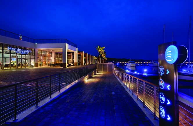 Karpaz Gate Marina at Night