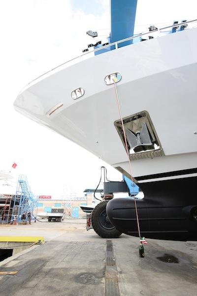 Launch of the motor yacht AZUL - 4th Delfino 93 yacht from the Benetti Class Range