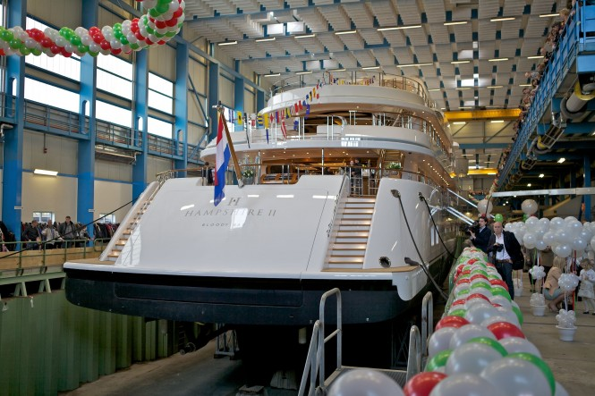 Launched by Feadship - the 78.5 metre Hampshire II superyacht- 5