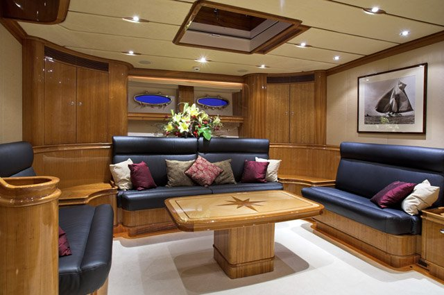 Luxurious interior aboard the superyacht This Is Us (ex Skylge)