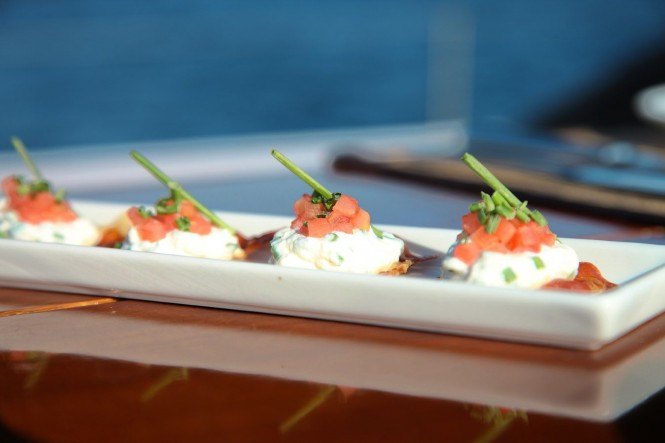 Luxury Sailing Yacht LUPA OF LONDON Gourmet Food