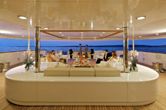 Luxury superyacht O'Mega - Main Deck Lounge
