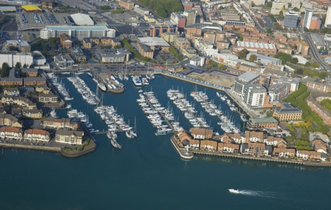 MDLs Ocean Village Marina - view from above