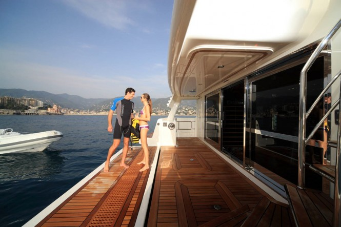 Motor Yacht HANA - Gym Entrance from Swim Platform