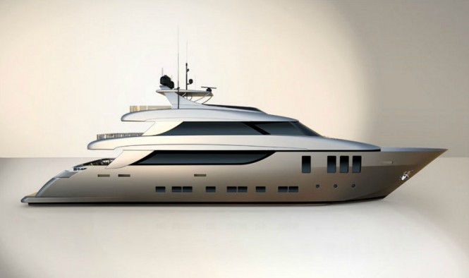Nadara 38 superyacht - side view