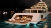 Nauta luxury yacht PROJECT LIGHT by night