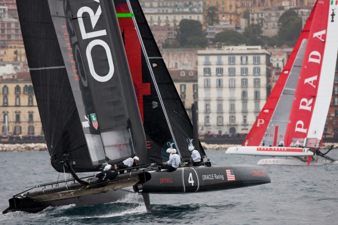ORACLE Racing Spithill and Luna Rossa