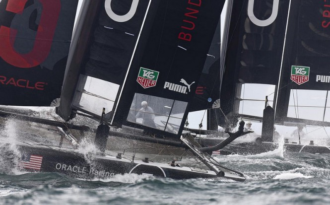 ORACLE Racing Spithill ties for daily win after two fleet races