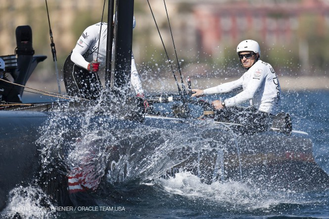 ORACLE Team racing on Day 2 of the Naples AC World Series