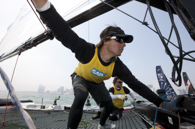 Onboard action from SAP Extreme Sailing Team - Image credit Lloyds