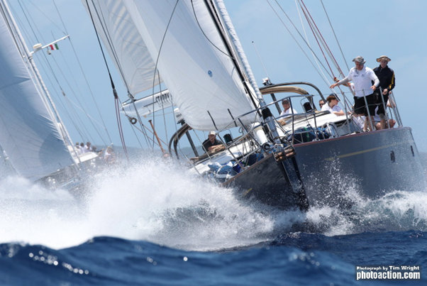Oyster 82 sailing yacht Starry Night enjoys spectacular racing on day 1 of Antigua Sailing Week  Credit: Tim Wright/Photoaction.com