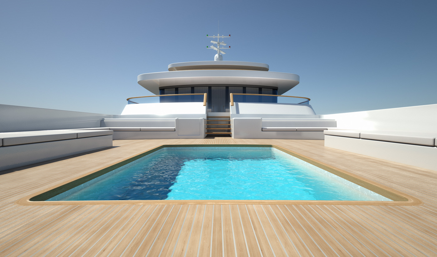 Project light superyacht swimming pool yacht charter - Luxury swimming pools ...