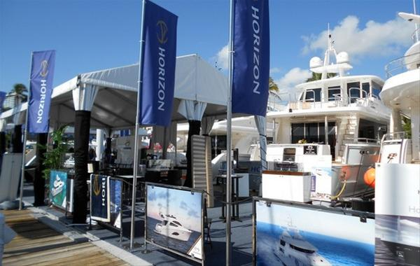 Palm Beach Boat Show 2012 a Great Success for Horizon Yachts
