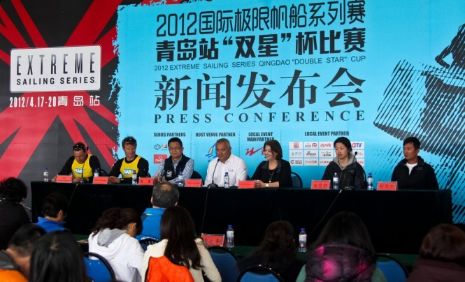Press conference with China Team and SAP Extreme Sailing Team