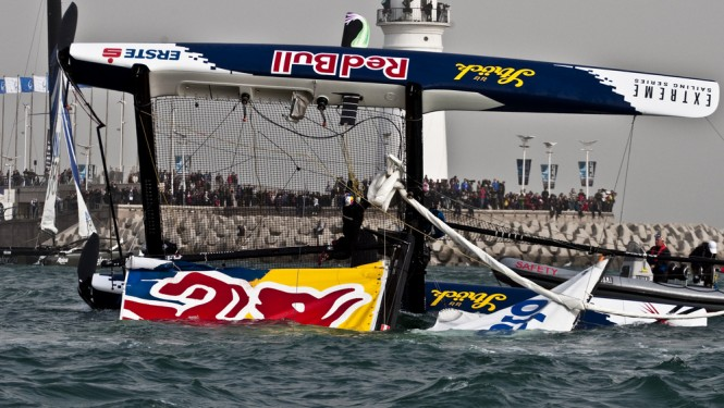 Red Bull Extreme Sailing capsized