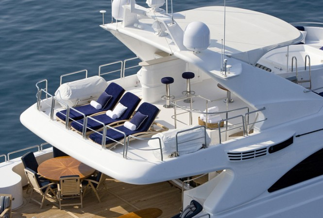 Relax aboard Enchantress charter yacht