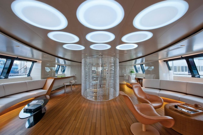 Sailing Yacht Panthalassa -  Main Salon with natural light