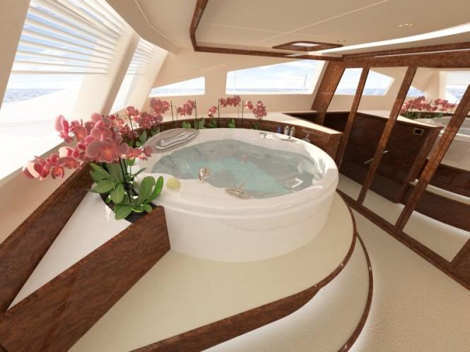 Sailing Yacht Sunreef 82 spa pool in owner suite