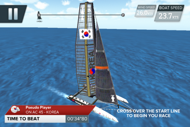 Sailing game available free as an app for iPhone and iPad Credit ACEA