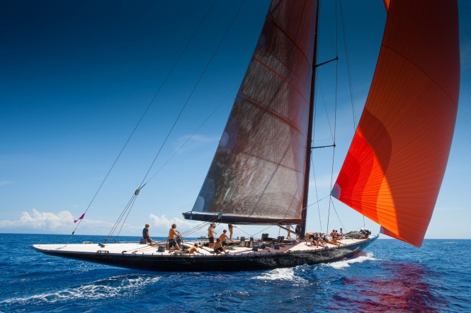 Sailing yacht Firefly racing at Les Voiles de Saint-Barth 2012 © Christophe Jouany
