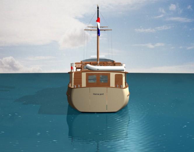 Sailing yacht Grande Estime 78´ Classic - rear view
