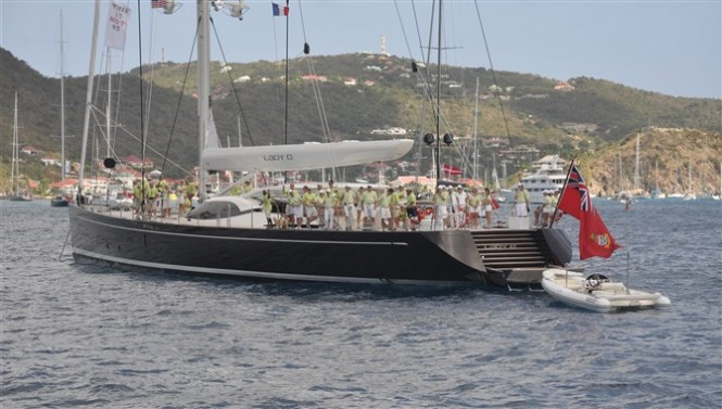 Sailing yacht Lady B won her class and placed second overall at the St Barths Bucket Regatta 2012