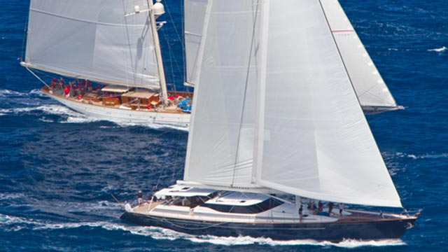 Sailing yachts at St. Barths Bucket 2012