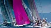 Sailing yachts racing at Les Voiles de St barth Credit Christophe Jouany