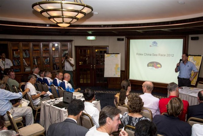 Skipper's and weather briefing at the Rolex Hong Kong Yacht Club Photo by RolexDaniel Forster