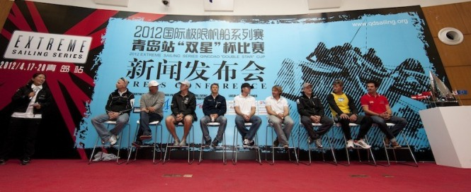 Skippers press conference, Qingdao Act 2 - Image credit Lloyds Images