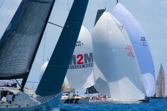 Spinnaker Class racing at Les Voiles de St. Barth
