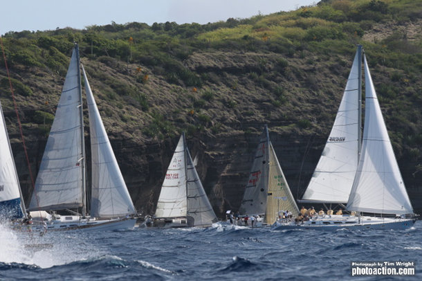 Start of CSA3 in the Yachting World Round Antigua Trophy