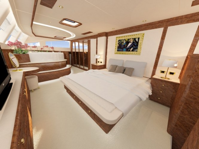 Sunreef 82 Superyacht owner cabin spa pool view