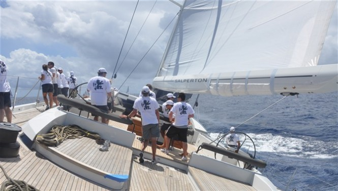 Superyacht Salperton by Dubois at the St Barth Bucket Regatta