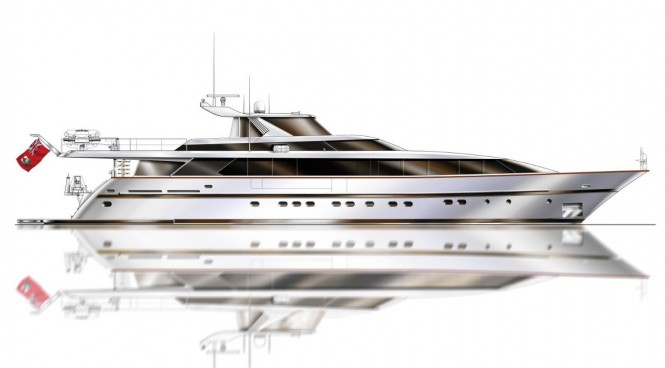 Superyacht Searaz - Rendering