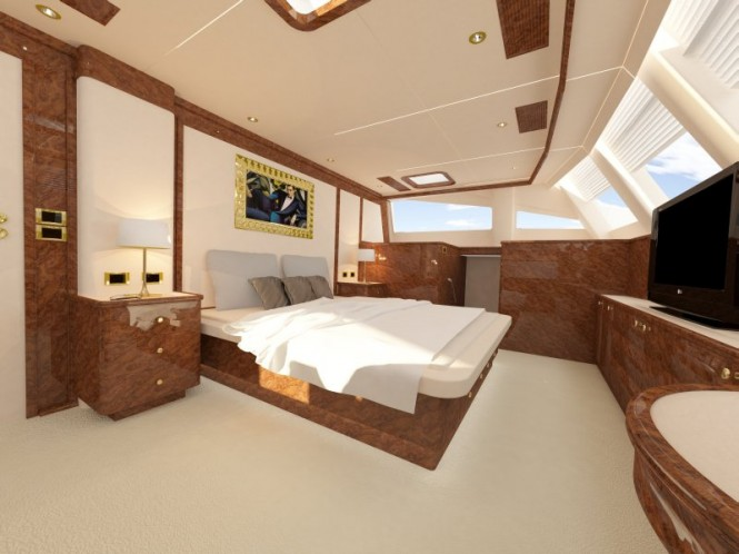 Superyacht Sunreef 82 owner cabin front