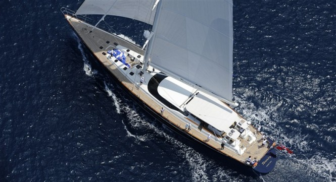 Tenaz superyacht - view from above