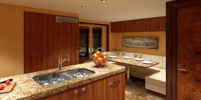 The 36.9m luxury yacht Ocean Alexander 120 Galley