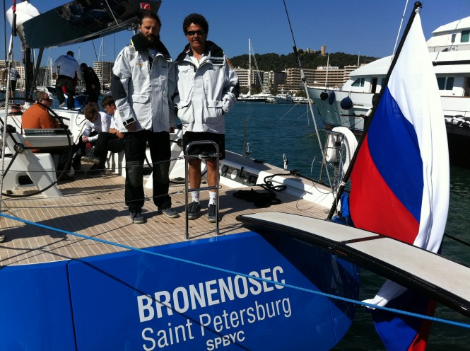 Vladimir Liubomirov Chairman of the Yacht Club of Saint-Petersburg  with Skipper Tomasso Chieffi © Yacht Club of Saint-Petersburg 2012