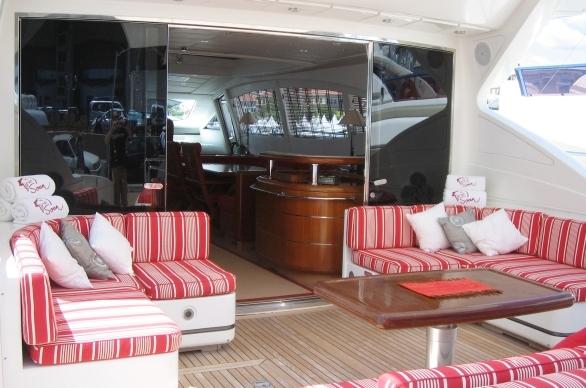 charter yacht SOAN -  Aft Deck
