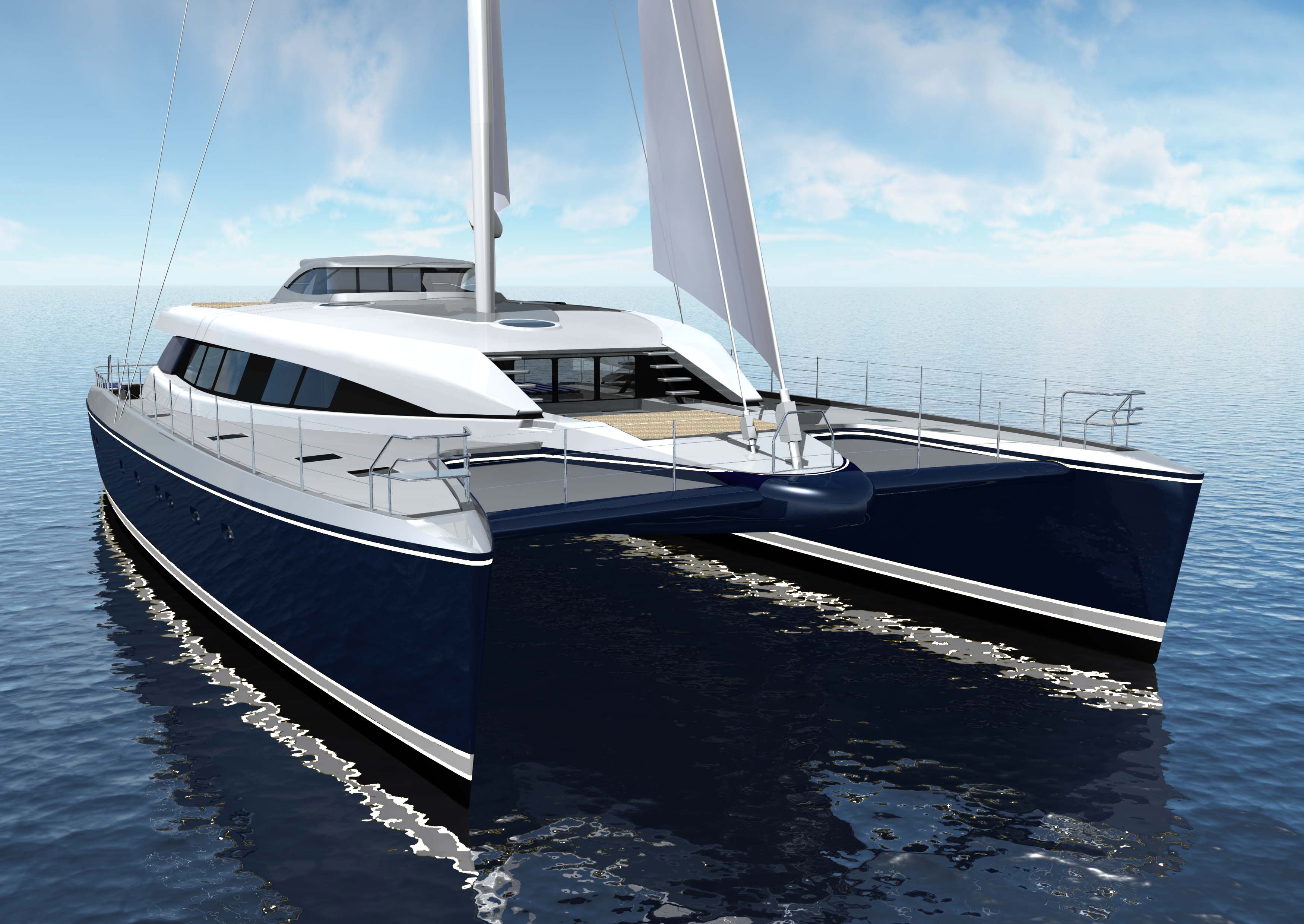 100ft Catamaran Yacht q5 Hull
