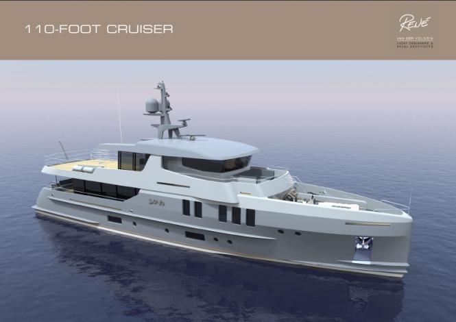 110ft Rene Van Der Velden motor yacht