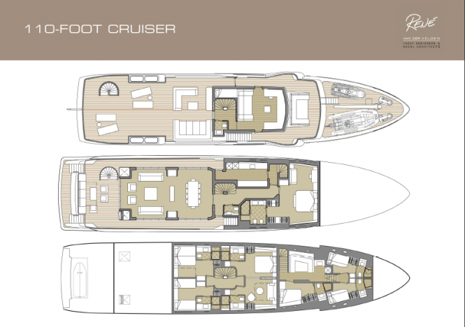 110ft luxury cruiser by Rene Van Der Velden