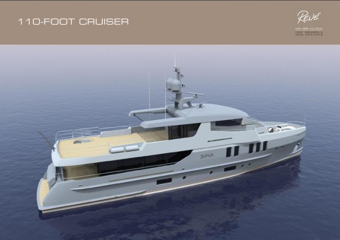 110ft motor yacht by Rene Van Der Velden