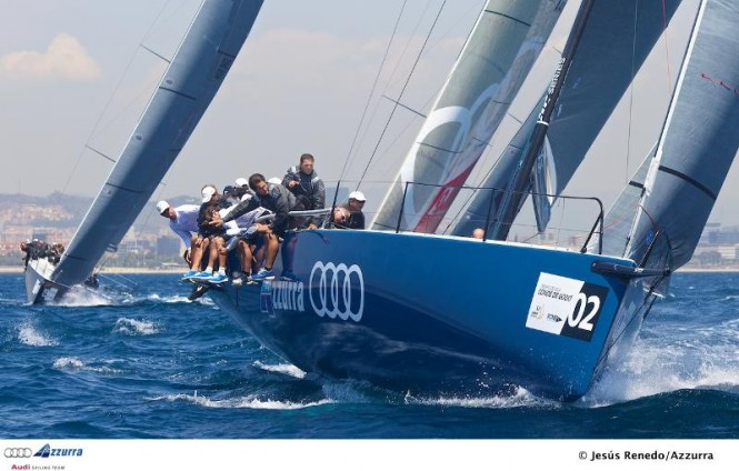52 Super Series racing - the Audi Azzurra Sailing Team - Photo Jesus Renedo / Azzurra