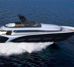 New 28.5m motor yacht Vento 94 concept by Ira Petromanolaki of IP.YD
