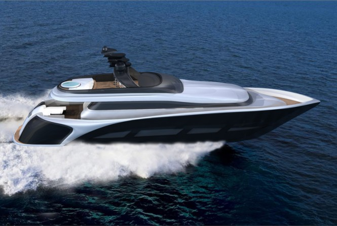 28.5m motor yacht Vento 94 concept by Ira Petromanolaki from IP.YD