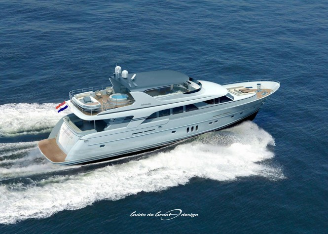 30m motor yacht Mulder 98 Flybridge - Image courtesy of Guido De Groot Design