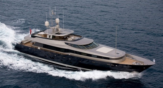 40m Alloy luxury motor yacht Loretta Anne (ex Allogante) Image courtesy of Dubois Naval Architects