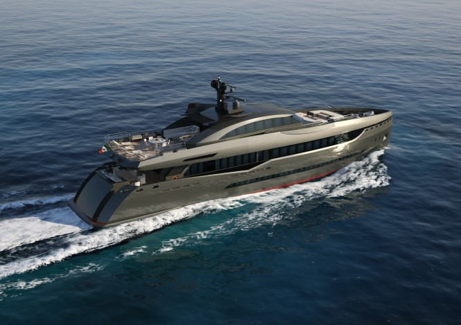 40m luxury yacht Columbus Sport 130' Hybrid by Palumbo